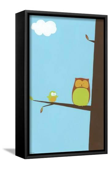 Treetop Owls II-Erica J. Vess-Framed Canvas Print
