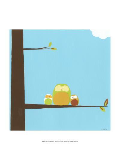 Treetop Owls III-Erica J^ Vess-Art Print