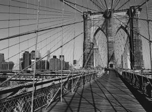 Across Brooklyn Bridge by Trefor Ball