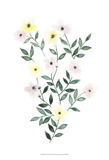 Trellis Flowers I-Grace Popp-Art Print