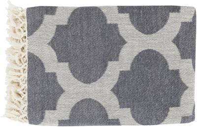 Trellis Throw - Ivory/Charcoal