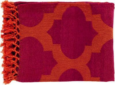 Trellis Throw - Tangerine/Magenta