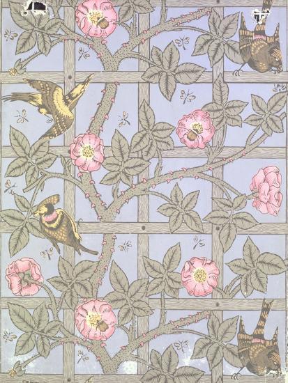 """""""Trellis"""" Wallpaper Design, 1864-William Morris-Giclee Print"""