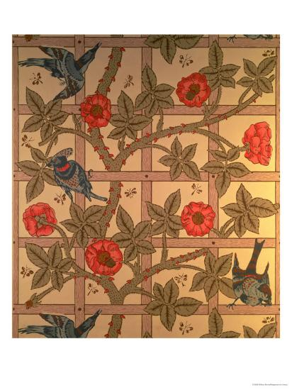 Trellis Wallpaper Design 1864 Giclee Print By William Morris