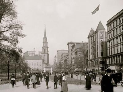 Tremont Street, Mall, Boston, Mass.