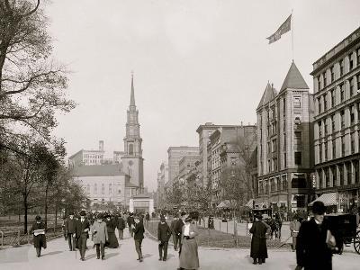 Tremont Street, Mall, Boston, Mass.--Photo