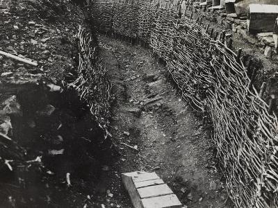 Trench Construction During the First World War-Luigi Verdi-Photographic Print