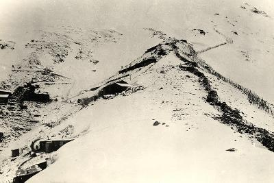 Trenches and Fences on the Slopes of Monte Nero During World War I-Ugo Ojetti-Photographic Print
