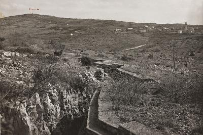 Trenches and on the San Michele--Photographic Print