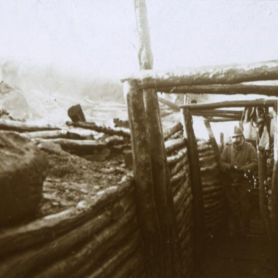 Trenches, Artois, northern France, c1914-c1918-Unknown-Photographic Print