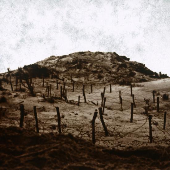 Trenches at Mamelon Vert, Nieuwpoort, Flanders, Belgium, c1914-c1918-Unknown-Photographic Print