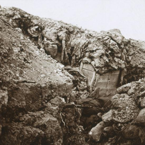 Trenches, Champagne, northern France, c1914-c1918-Unknown-Photographic Print