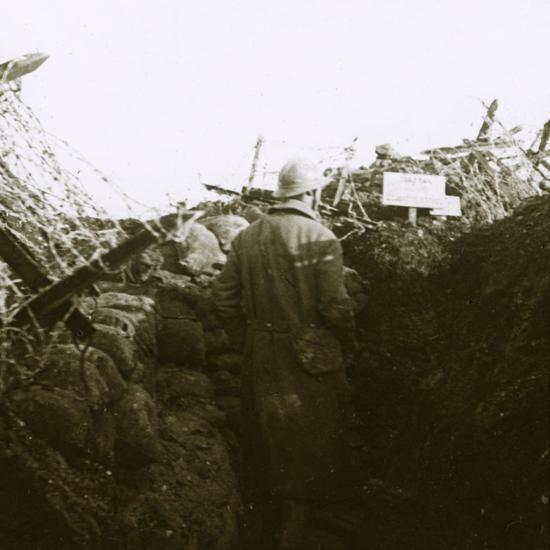 Trenches, Cornille, France, c1914-c1918-Unknown-Photographic Print