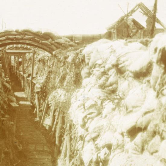 Trenches, front line, Diksmuide, Belgium, c1914-c1918-Unknown-Photographic Print