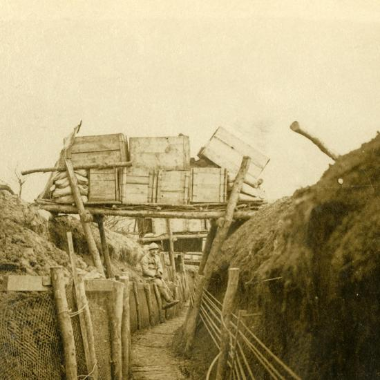 Trenches near Les Éparges, northern France, c1914-c1918-Unknown-Photographic Print
