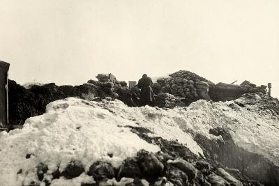 Trenches on Pal Grande During World War I-Ugo Ojetti-Photographic Print
