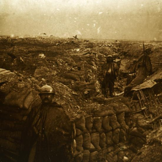 Trenches on the front line, Moulin de Souain, northern France, c1915-Unknown-Photographic Print