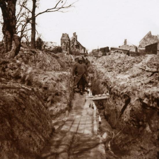 Trenches, Somme, northern France, c1914-c1918-Unknown-Photographic Print