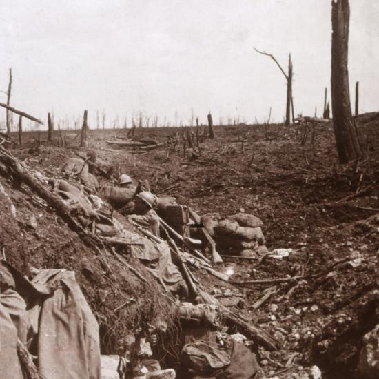 Trenches, Vaux, northern France, c1914-c1918-Unknown-Photographic Print