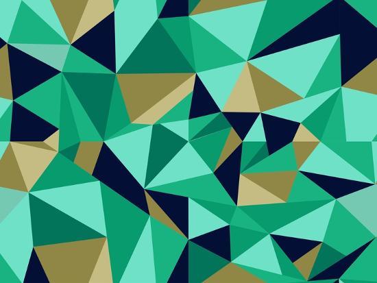 Trendy Abstract Geometric Pattern-cienpies-Art Print