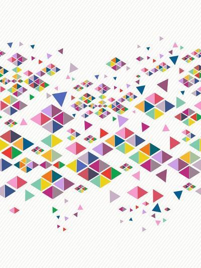 Trendy Hipster Geometric Pattern-cienpies-Art Print