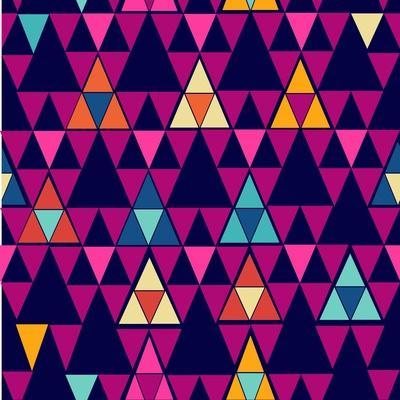 Trendy Hipster Geometric Pattern-cienpies-Art Print