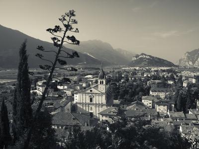 Trentino-Alto Adige, Lake District, Lake Garda, Arco, Collegiata Church, Italy-Walter Bibikow-Photographic Print