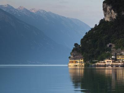 Trentino-Alto Adige, Lake District, Lake Garda, Riva Del Garda, Excelsior Hotel at La Punta, Italy-Walter Bibikow-Photographic Print