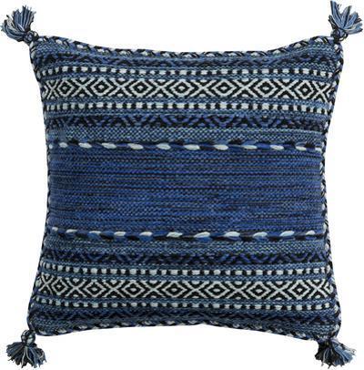 Trenza Poly Fill Pillow - Navy