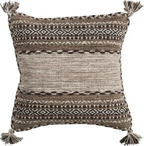Trenza Poly Fill Pillow - Taupe