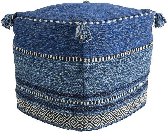 Trenza Pouf - Navy--Home Accessories