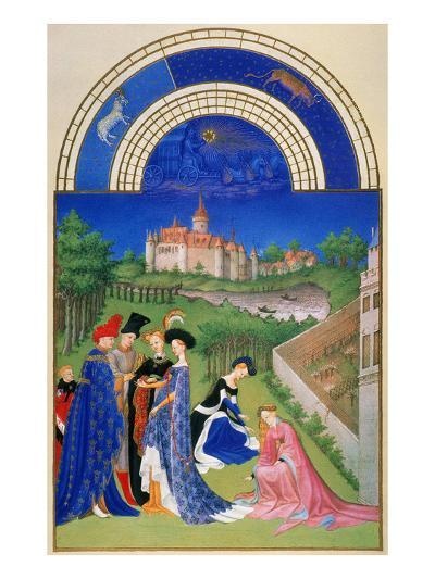 Tres Riches Heures: April--Giclee Print