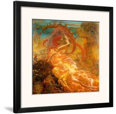 Tresors de Satan, 1895-Jean Delville-Framed Art Print