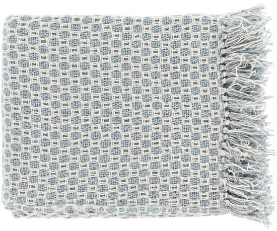 Trestle Throw - Light Blue/Ivory--Home Accessories