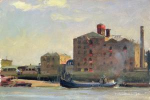 Against the Tide, Rotherhithe, 1992 by Trevor Chamberlain