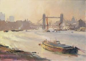 Autumn Afternoon, Pool of London, 1991 by Trevor Chamberlain