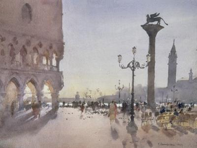 Early Morning, Piazzetta, Venice, 1989 by Trevor Chamberlain