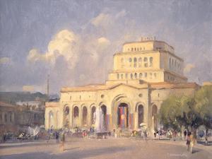 Evening, Republic Square, Yerevan by Trevor Chamberlain