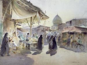 Light and Shade, Shiraz Bazaar, 1994 by Trevor Chamberlain