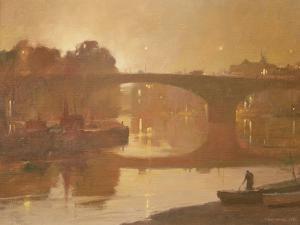 Night, Kew Bridge, 1989 by Trevor Chamberlain