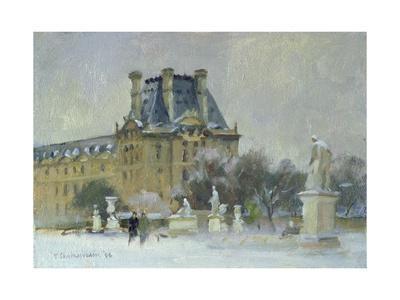 Snow in the Tuilleries, Paris, 1996