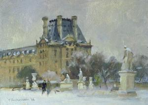 Snow in the Tuilleries, Paris, 1996 by Trevor Chamberlain