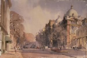 Winter Morning, Victoria and Albert Museum, 1990 by Trevor Chamberlain