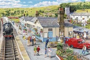 The Village Station by Trevor Mitchell