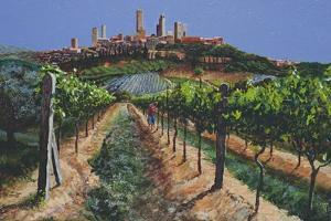 Grape Vines, San Gimignano, Tuscany, 1998 by Trevor Neal
