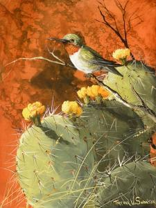Bird on a Cactus by Trevor V. Swanson