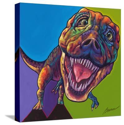 TRex-Ron Burns-Stretched Canvas Print