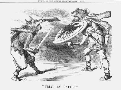 Trial by Battle, 1877-Joseph Swain-Giclee Print