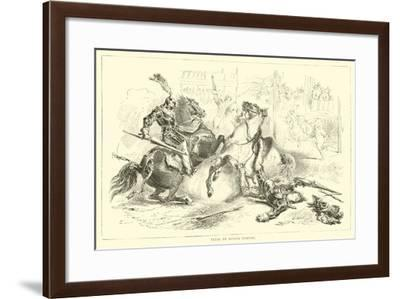Trial by Single Combat--Framed Giclee Print