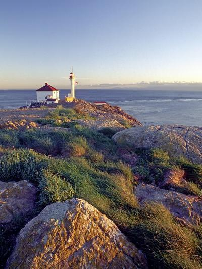 Trial Island Lighthouse with the Strait of Juan De Fuca in Background, Victoria, British Columbia, -Chris Jaksa-Photographic Print